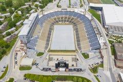 Satellietbeelden van Ross-Ade Stadium On The Campus van Purdue University stock foto's