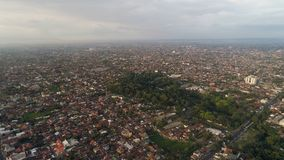 Satellietbeeldstad Yogyakarta, Indonesië royalty-vrije stock afbeeldingen