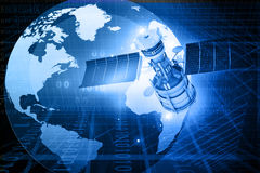 Satellietcommunicatieconcept Stock Foto