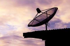 Satellietcommunicatieschijf Stock Foto