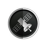 Satellietcommunicatietechnologie Stock Afbeelding