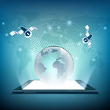 satellieten De illustratie van de voorraad Royalty-vrije Stock Fotografie