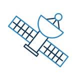 Satellietheelalantenne Royalty-vrije Stock Afbeelding