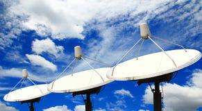 Satellietschotel Stock Foto
