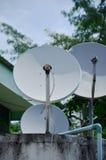 Satellietschotel Stock Afbeelding