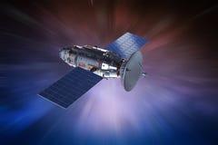 Satellietschotel met antenne vector illustratie