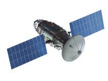 Satellietschotel met antenne royalty-vrije illustratie