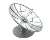 Satellietschotel met het knippen van weg Royalty-vrije Stock Foto