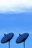 SatellietSchotel twee Stock Afbeelding