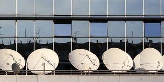 Satellietschotels Stock Afbeeldingen