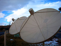SatellietSchotels TVRO Royalty-vrije Stock Foto's