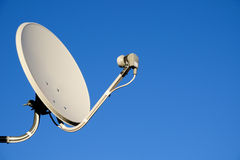 Satelliettv-antenne Stock Foto