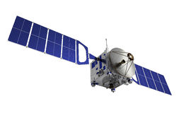 Satellit över vit bakgrund Royaltyfri Bild