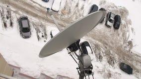 Satellit- antenn lager videofilmer