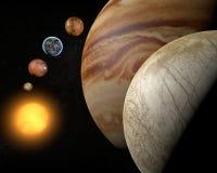 Satellit- Europa, Jupiter måne Arkivfoto