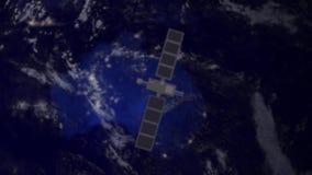Satellit för bevakningspiontelekommunikation över Australien lager videofilmer