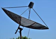 Satellit för kommunikationsutrustning arkivbild