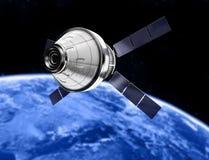 Satellit i utrymme Arkivbilder