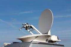 Satellit- kommunikationer för parabolantenn Arkivfoto