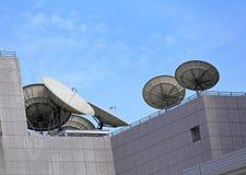 Satellit- maträtt Arkivfoto