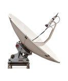 Satellit- maträtt av mobiltelefon isolerad vit Royaltyfria Foton