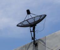 Satellit- maträtt för tv fotografering för bildbyråer