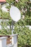 Satellit- maträtt - TV arkivbild