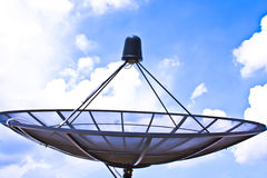 Satellit- signalerar och meddelanden. Royaltyfria Foton