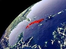 Satellit- sikt av Kuban på jord vektor illustrationer