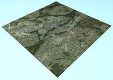 Satellit- sikt av Stockholm, Sverige, översikt, avsnitt 3d Arkivbilder