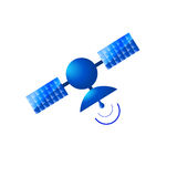 Satellit- symbol Royaltyfri Foto