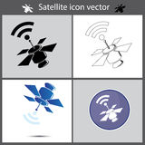 Satellit- symbol Arkivfoto