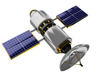 Satellite. 3d illustration of generic satellite isolated over white background Stock Photos