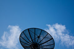Satellite. Big Satellite  in blue sky Stock Images