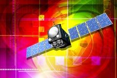 Satellite illustration stock