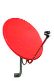 Satellite. Red satellite on white background Royalty Free Stock Photography