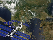 Satellite Photographie stock libre de droits
