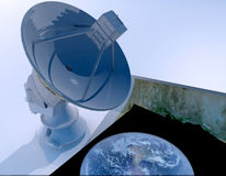 The satellite aerial Royalty Free Stock Image