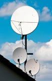 Satellite Antenna. This image shows three satellite antennas royalty free stock photography