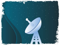Satellite antenna. On dotted background royalty free illustration