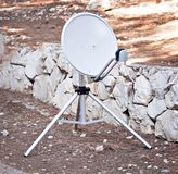 Satellite antenna communication equipment at ground Royalty Free Stock Photos