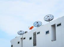 Satellite antenna on a house Stock Image