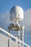 Satellite antenna for ships Stock Photos