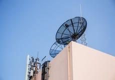 Satellite and antenna Royalty Free Stock Photos