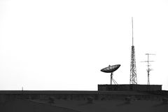 Satellite and antenna  on the top Stock Image