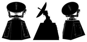 Satellite Antenna Vector 01. Satellite Antenna Isolated Illustration Vector Royalty Free Stock Image