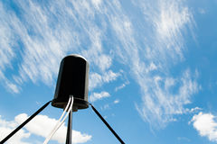 Satellite antennas with blue sky Stock Photography