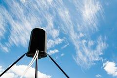 Satellite antennas with blue sky Stock Photos
