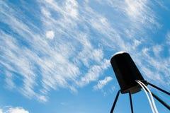 Satellite antennas with blue sky Stock Photo