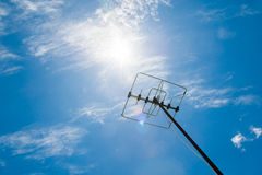 Satellite antennas with blue sky Stock Images